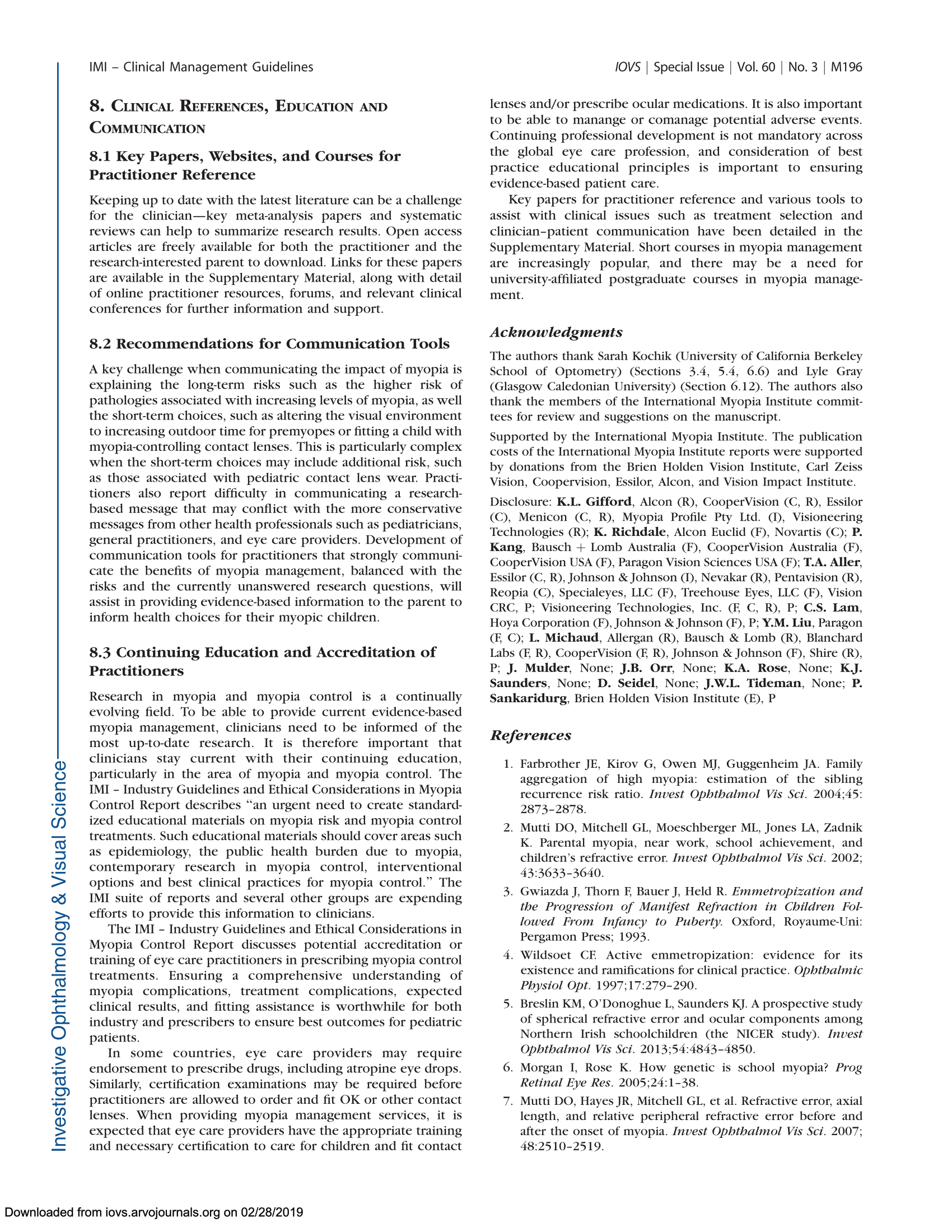 IMI – Clinical Management Guidelines Report-13